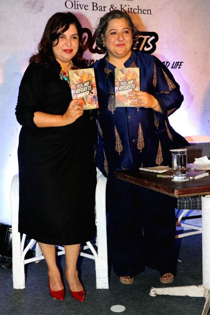 Filmmaker Farah Khan at the book launch of author Kaveree Bamzai in Mumbai on Nov 8, 2019. - Farah Khan