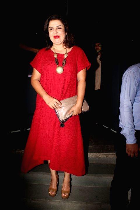 Filmmaker Farah Khan during the success party of film Baaghi in Mumbai on May 12, 2016. - Farah Khan