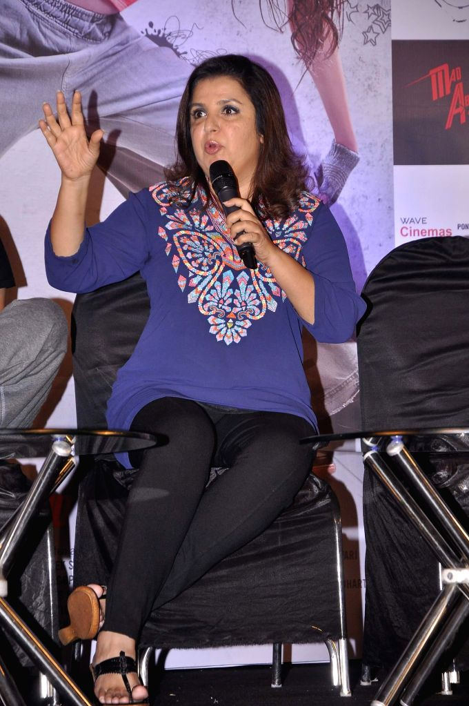 Filmmaker Farah Khan during the trailer launch of the film Mad About Dance in Mumbai on July 16, 2014. - Farah Khan