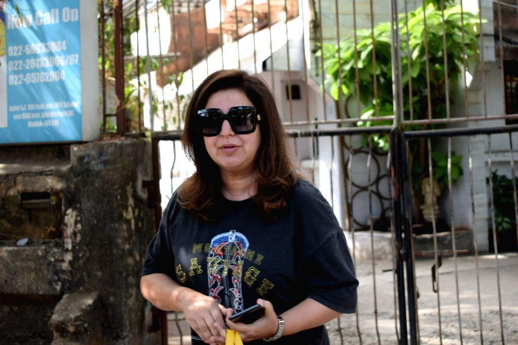 Filmmaker Farah Khan seen at a salon in Mumbai on Feb 10, 2018. - Farah Khan