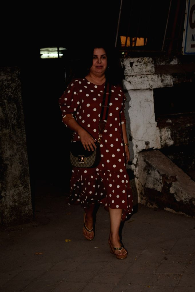Filmmaker Farah Khan seen outside a Juhu salon in Mumbai, on March 28, 2018. - Farah Khan
