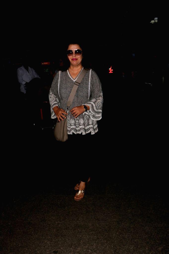 Filmmaker Farah Khan spotted at the Chhatrapati Shivaji International Airport in Mumbai, on July 25, 2017. - Farah Khan