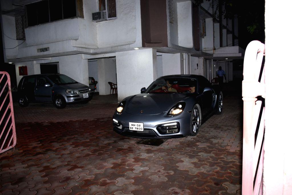 Filmmaker Farhan Akhtar and singer Shibani Dandekar seen at latter's house in Mumbai on Aug 8, 2019. - Farhan Akhtar