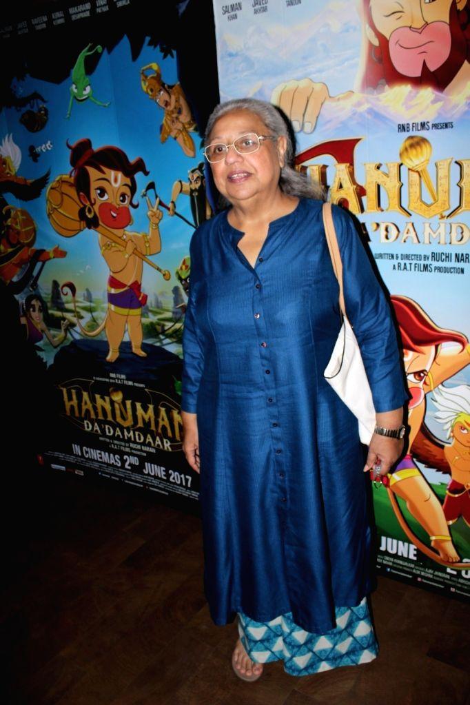Filmmaker Honey Irani during the screening of film Hanuman Da Damdaar in Mumbai on June 1, 2017. - Honey Irani