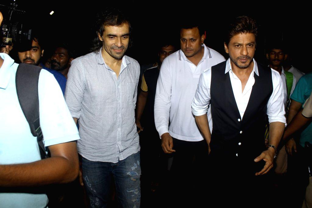Filmmaker Imtiaz Ali and actor Shah Rukh Khan during the screening of film Tubelight, in Mumbai, on June 22, 2017. - Imtiaz Ali and Rukh Khan