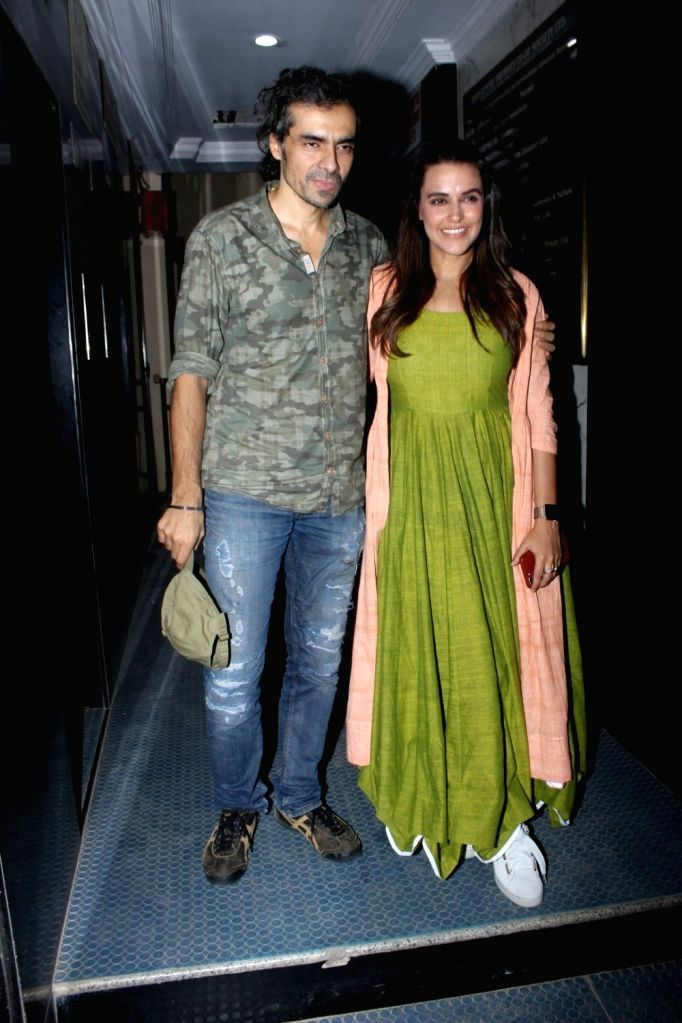 Filmmaker Imtiaz Ali and Neha Dhupia during the recording of NoFilter Neha Season 2 in Mumbai, on June 23, 2017. - Imtiaz Ali and Neha Dhupia