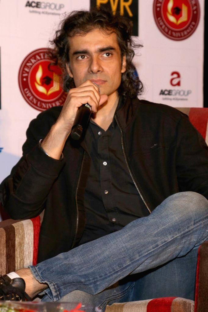 "Filmmaker Imtiaz Ali during a press conference to promote his upcoming film ""Tamasha"" in New Delhi, on Nov 23, 2015. - Imtiaz Ali"