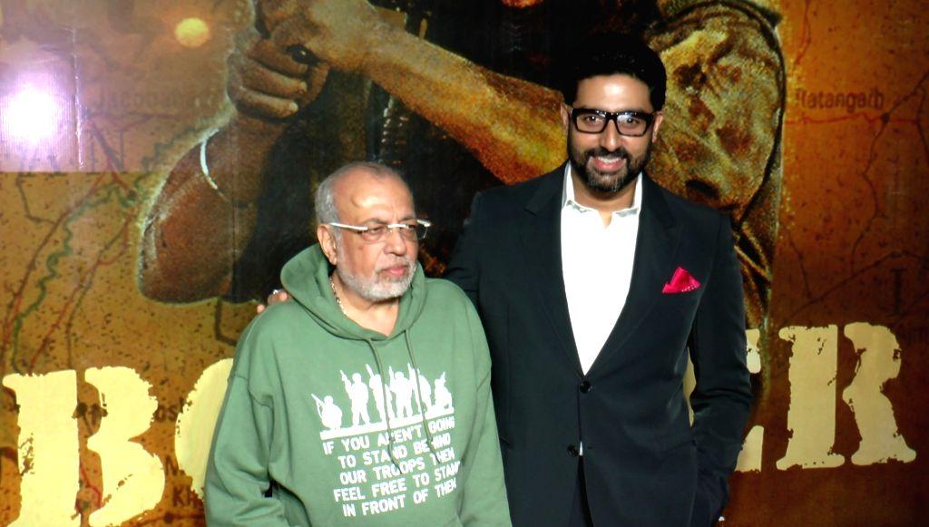 Filmmaker J P Dutta and actor Abhishek Bachchan during the celebrations 20 years completion of film Border, in Mumbai in Mumbai on June 11, 2017. - J P Dutta and Abhishek Bachchan