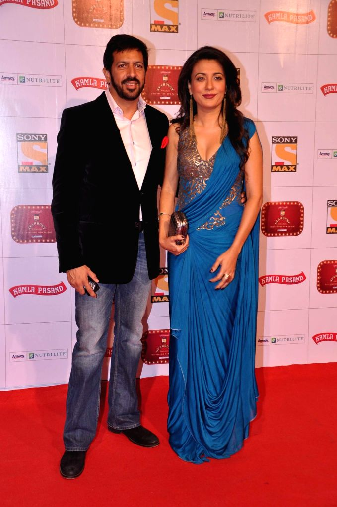 Filmmaker Kabir Khan with wife Mini Mathur at the red carpet of Stardust Awards at Jan 26 in Mumbai. - Kabir Khan