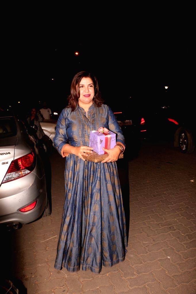 Filmmaker Karan Johar arrives at the naming ceremony of producer Ekta Kapoor's son in Mumbai on Feb 11, 2019. - Karan Johar and Ekta Kapoor