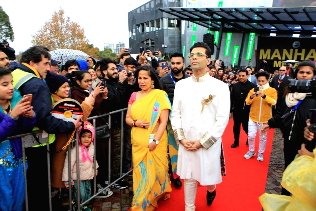 Filmmaker Karan Johar arrives to hoist the Indian tricolour at Federation Square in Melbourne, Australia. Desis' from across the city gathered at Federation Square here on Saturday to see Karan hoisting the Indian tricolour. This annual honour is giv - Karan Johar