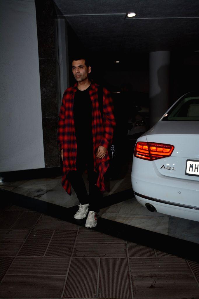 Filmmaker Karan Johar at designer Manish Malhotra's birthday party in Mumbai on Dec 4, 2018. - Karan Johar and Manish Malhotra