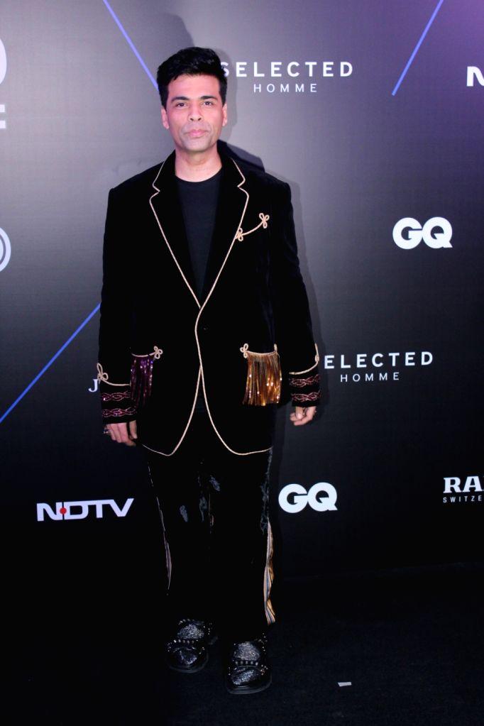 """Filmmaker Karan Johar at """"GQ 100 Best Dressed Awards 2019"""", in Mumbai, on June 1, 2019. - Karan Johar"""