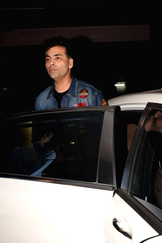 "Filmmaker Karan Johar at the screening of upcoming film ""Aiyaary"" in Mumbai on Feb 13, 2018. - Karan Johar"