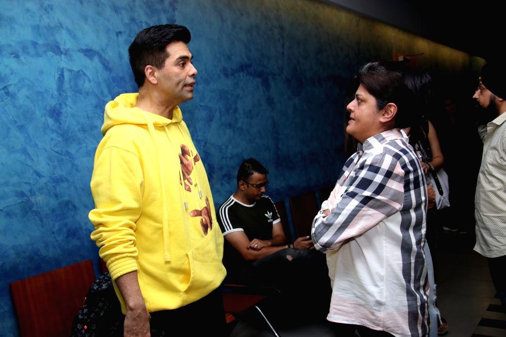 """Filmmaker Karan Johar at the screening of """"Soorma"""" in Mumbai on July 13, 2018. - Karan Johar"""