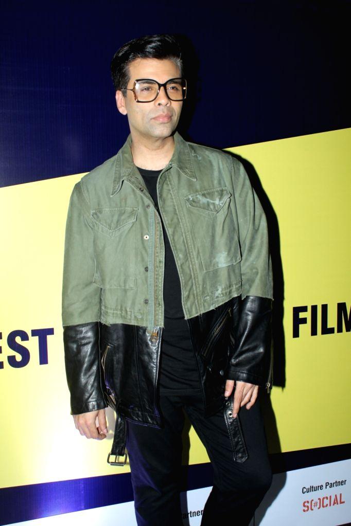 Filmmaker Karan Johar on the second day of the 10th Jagran Film Festival in Mumbai on Sep 27, 2019. - Karan Johar