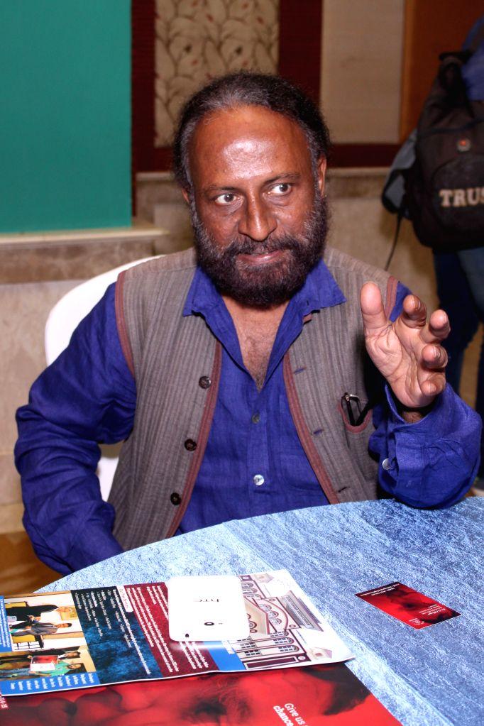 Filmmaker Ketan Mehta during the promotion of film Manjhi- The Mountain Man, in New Delhi, on Aug 18, 2015. - Ketan Mehta