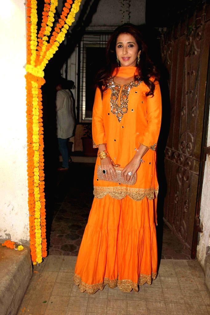 Filmmaker Krishika Lulla during the Fashion designer Masaba Gupta sangeet ceremony in Mumbai on November 21, 2015. - Krishika Lulla