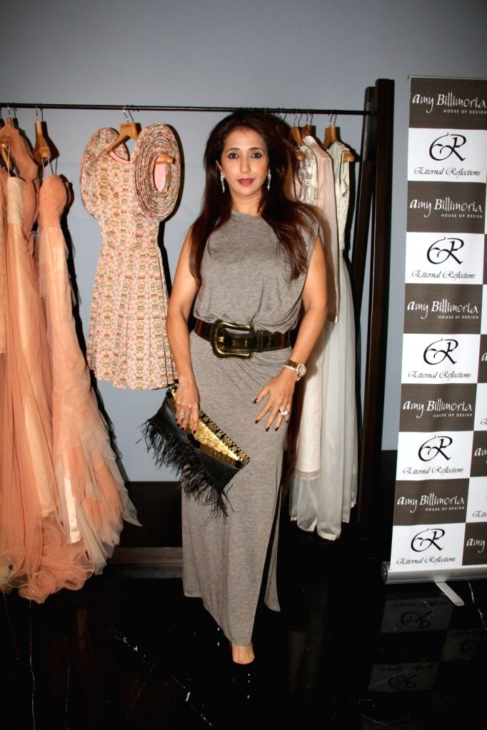 Filmmaker Krishika Lulla during the preview of fashion designer Amy Billimoria`s Festive Autumn/Winter 2015 Collection in Mumbai on Oct 14, 2015. - Krishika Lulla