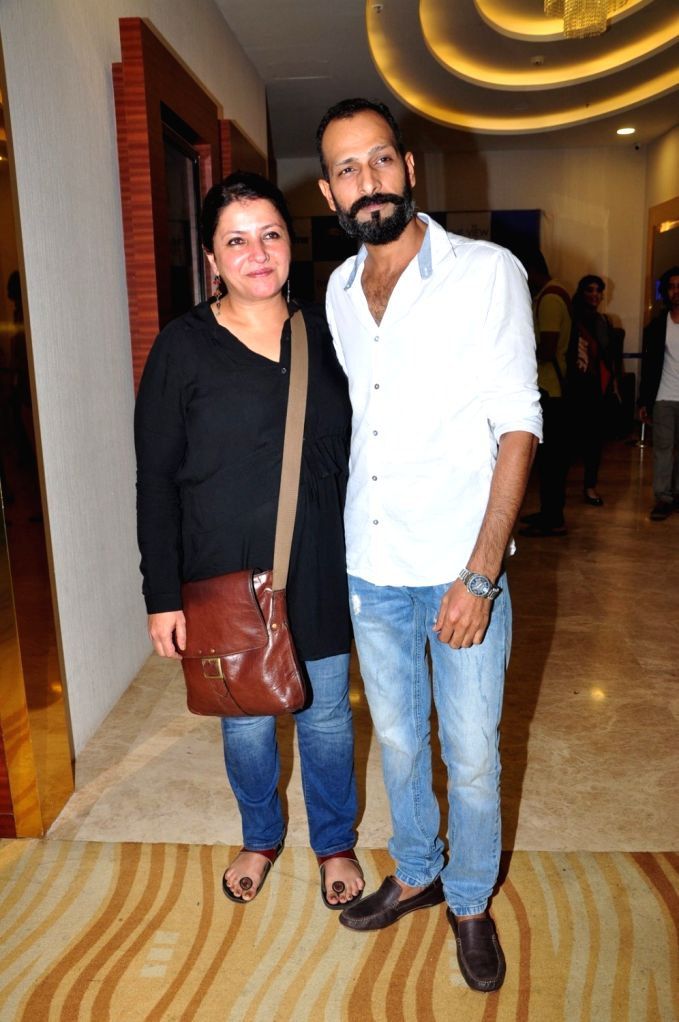 Filmmaker Leena Yadav and actor Mahesh Balraj during the special screening of the movie Parched in Mumbai on Sept. 19, 2016. - Leena Yadav