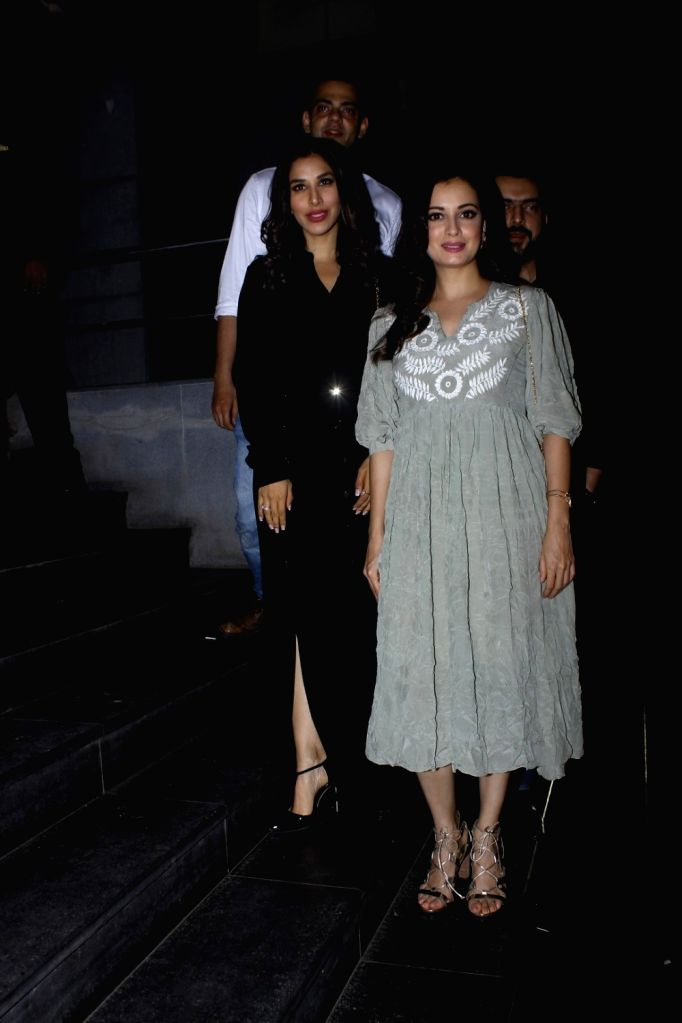 Filmmaker Madhu Mantena Varma along with his wife Masaba Gupta during the screening of film Tubelight, in Mumbai, on June 22, 2017. - Madhu Mantena Varma and Masaba Gupta