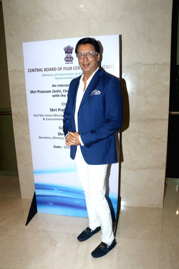 Filmmaker Madhur Bhandarkar during the launch of the new logo and certificate design of Central Board of Film Certification (CBFC) in Mumbai on Sept 1, 2019. - Madhur Bhandarkar