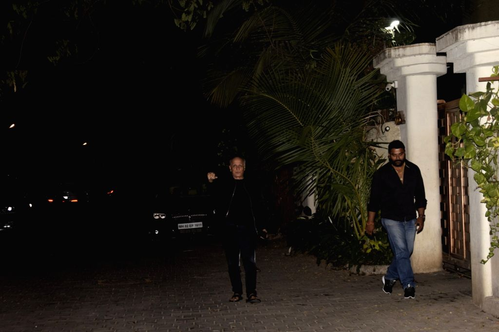 Filmmaker Mahesh Bhatt at his daughter, actress Alia Bhatt's birthday party in Mumbai, on March 14, 2019. - Mahesh Bhatt