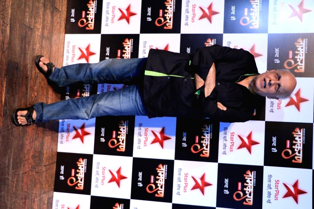 Filmmaker Mahesh Bhatt during the launch of Star Plus new serial Naamkaran in Mumbai on Aug 23, 2016. - Mahesh Bhatt