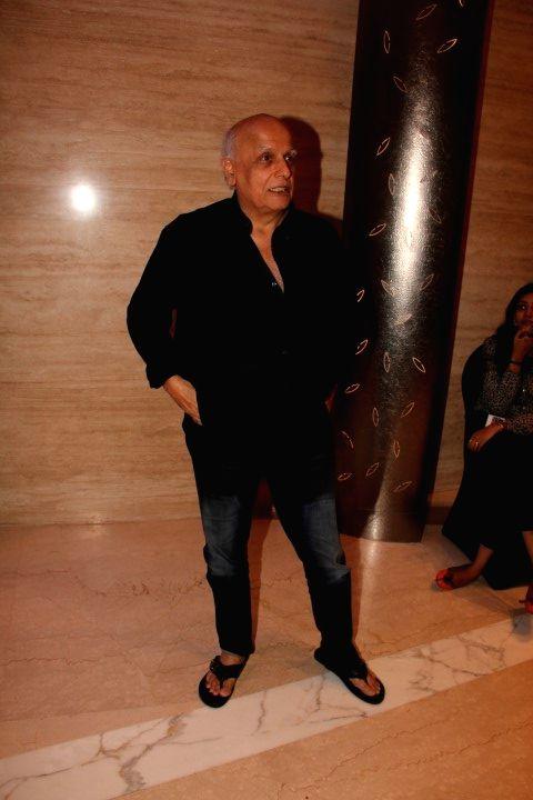 Filmmaker Mahesh Bhatt during the trailer launch of film Wedding Pullav, in Mumbai, on Aug 17, 2015. - Mahesh Bhatt