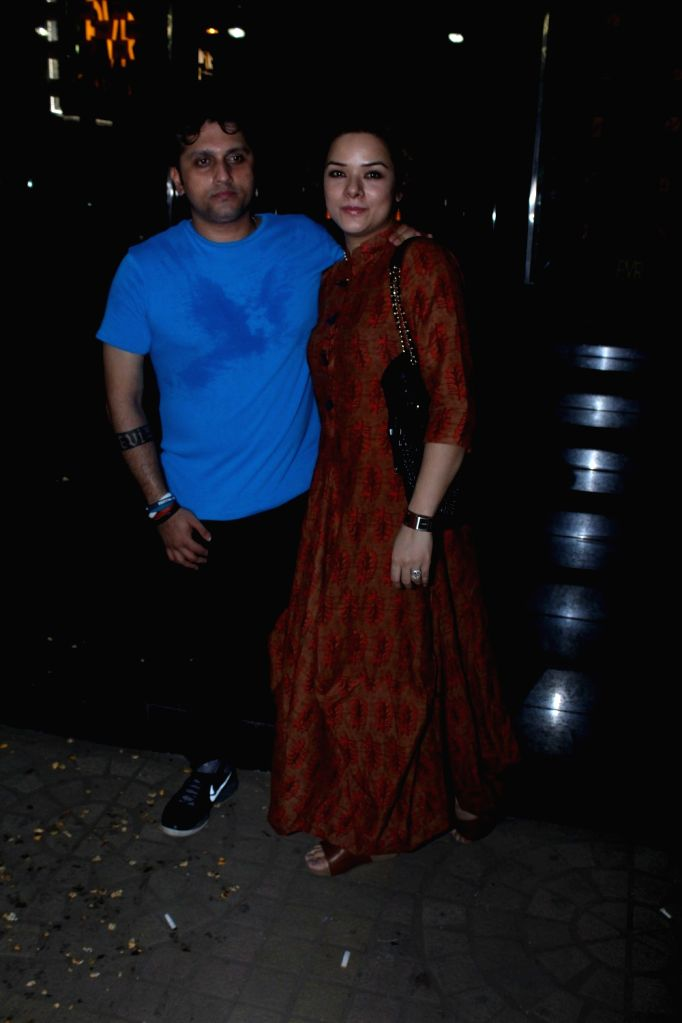 Filmmaker Mohit Suri and his wife Udita Goswami spotted for film Half Girlfriend at PVR in Mumbai on May 15, 2017. - Mohit Suri and Udita Goswami