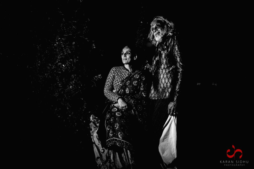Filmmaker Muzaffar Ali and ace designer Meera Ali. (Outfit Credits: House of Kotwara   Jewellery Credits: Kishandas & Co.) - Muzaffar Ali
