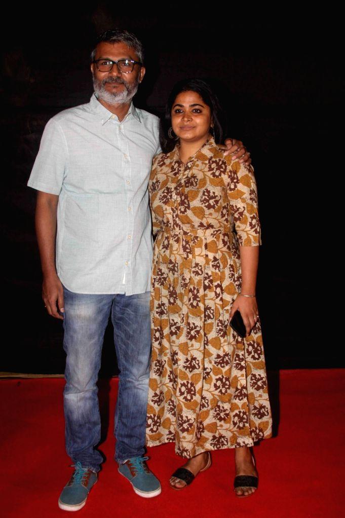 Filmmaker Nitesh Tiwari along with wife Ashwiny Iyer Tiwari during the Dada Saheb Film Foundation Awards 2017 in Mumbai on May 7, 2017. - Nitesh Tiwari