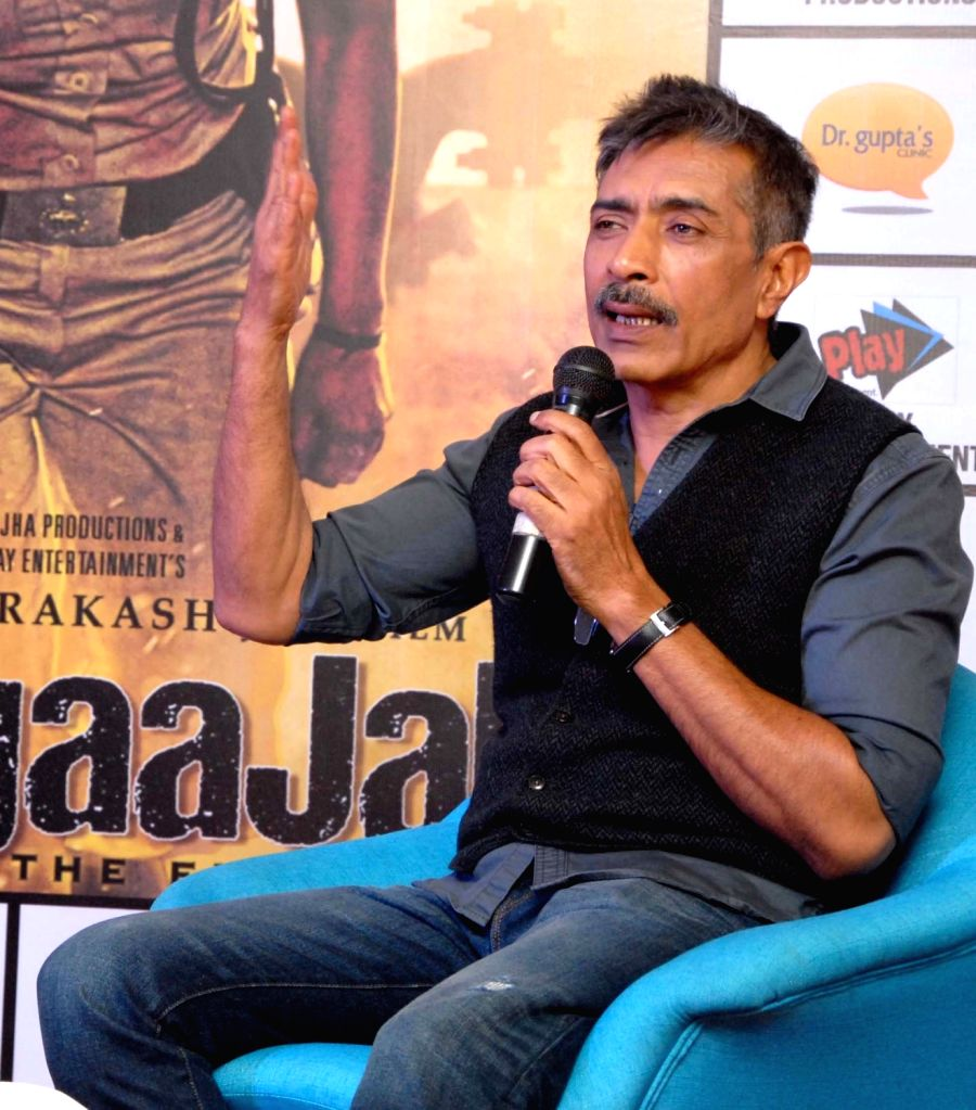 "Filmmaker Prakash Jha during a press conference regarding his upcoming film ""Jai Gangaajal"" in Kolkata, on Jan 20, 2016."