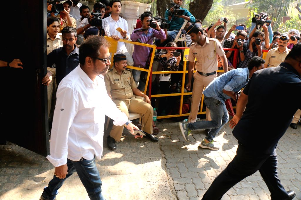 Filmmaker R. Balki arrives at actor Anil Kapoor's residence to meet the grief struck Kapoor family after sudden demise of actress Sridevi, in Mumbai on Feb 27, 2018. Veteran actress Sridevi ... - R. Balki, Sonam Kapoor and Khushi Kapoor
