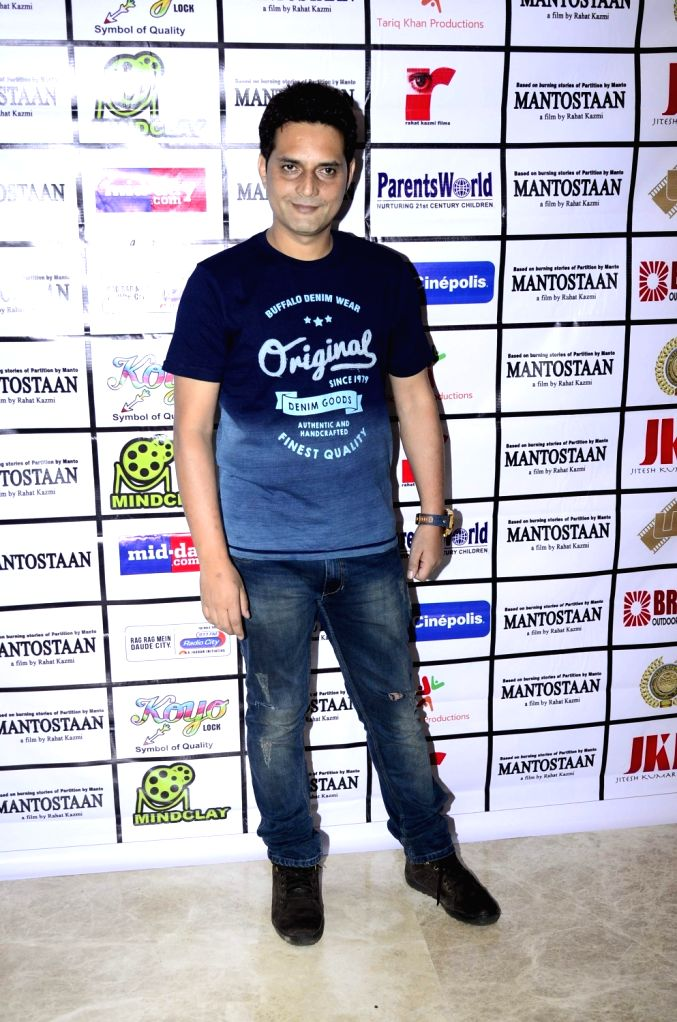 Filmmaker Rahat Kazmi during the trailer launch of film Mantostaan in Mumbai on April 15, 2017. - Rahat Kazmi