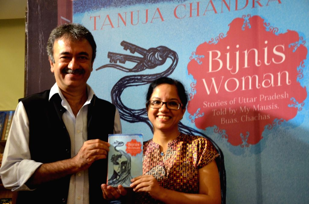 "Filmmaker Rajkumar Hirani at the launch of Anuja Chandra's book ""Bijnis Woman: Stories of Uttar Pradesh""  in Mumbai on May 7, 2017. - Rajkumar Hirani"