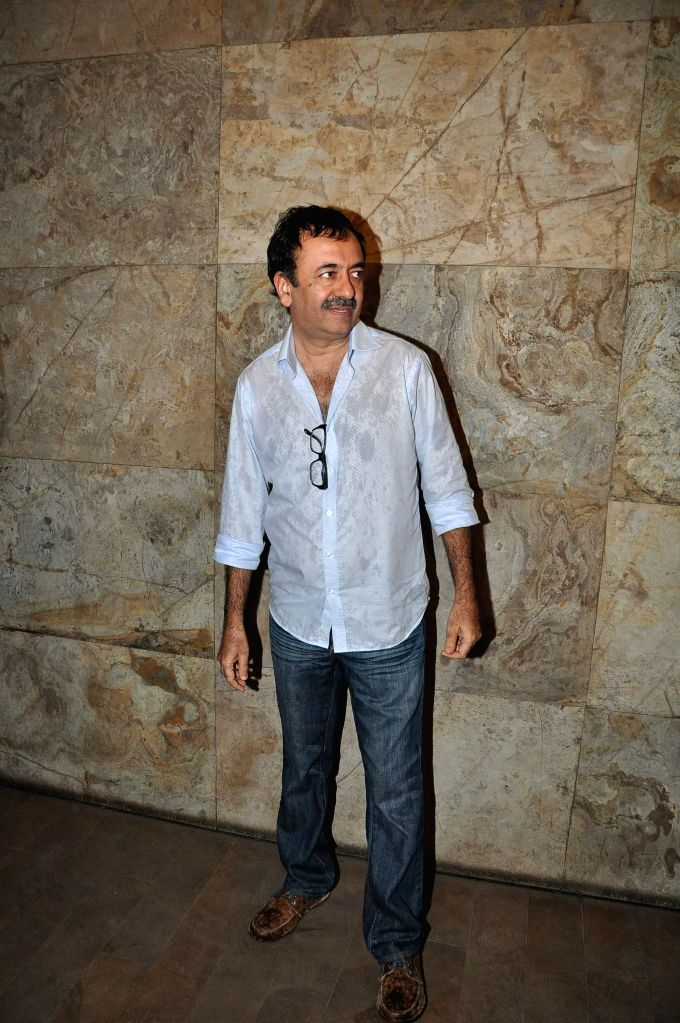 Filmmaker Rajkumar Hirani during the screening of film Bobby Jasoos in Mumbai on July 3, 2014. - Rajkumar Hirani