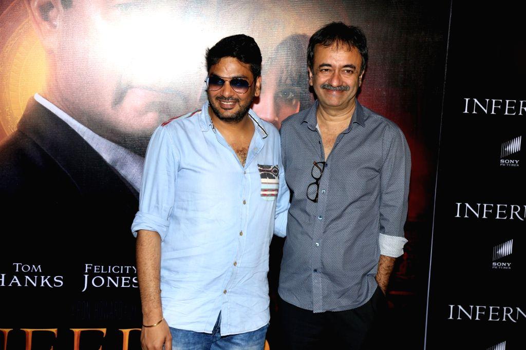 Filmmaker Rajkumar Hirani during the screening of film Inferno in Mumbai on Oct 12, 2016. - Rajkumar Hirani