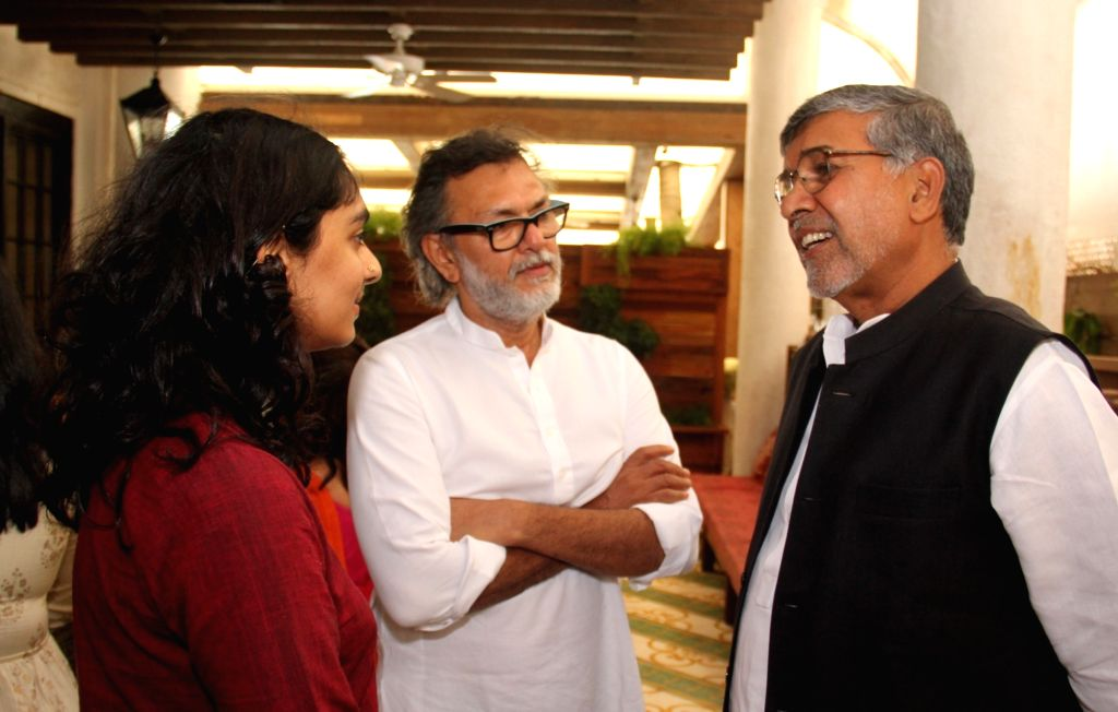 "Filmmaker Rakeysh Omprakash Mehra with Nobel Peace Laureate Kailash Satyarthi at the screening of his documentary ""The Price of Free"" that is based on a true story of Satyarthi's ... - Rakeysh Omprakash Mehra and Kailash Satyarthi"