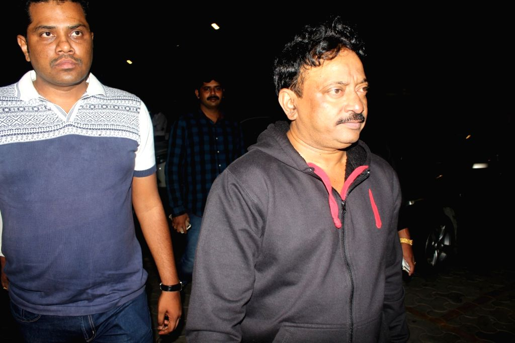 Filmmaker Ram Gopal Varma during the screening of film Sarkar 3 in Mumbai on May 11, 2017. - Ram Gopal Varma