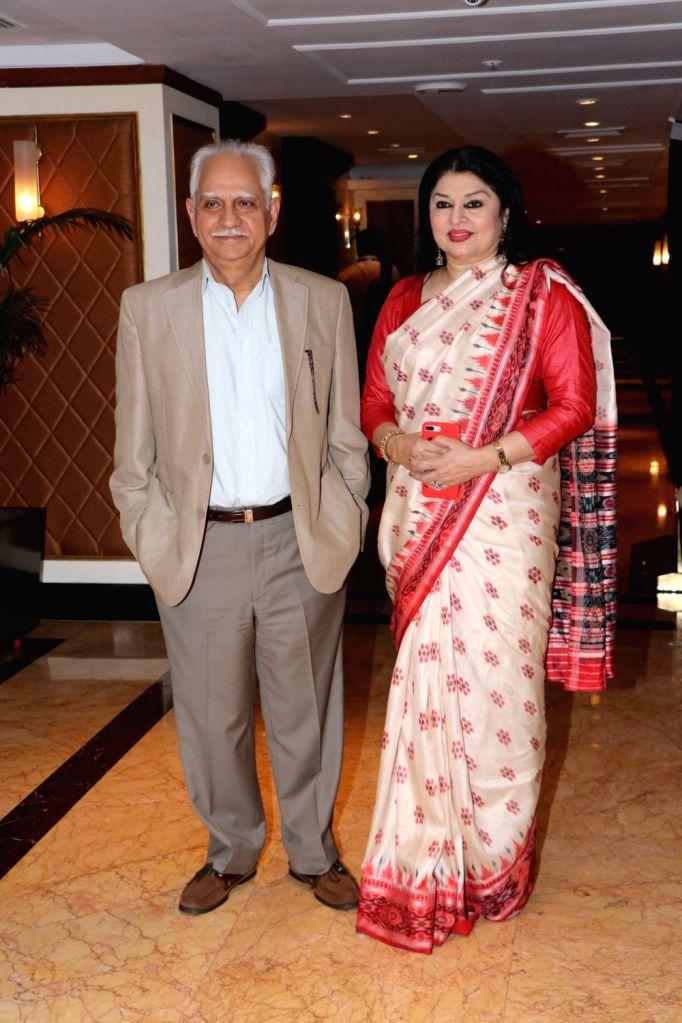Filmmaker Ramesh Sippy and his wife Kiran Juneja at Dadasaheb Phalke International Film Festival Award 2020 in Mumbai on Feb 11, 2020. - Ramesh Sippy