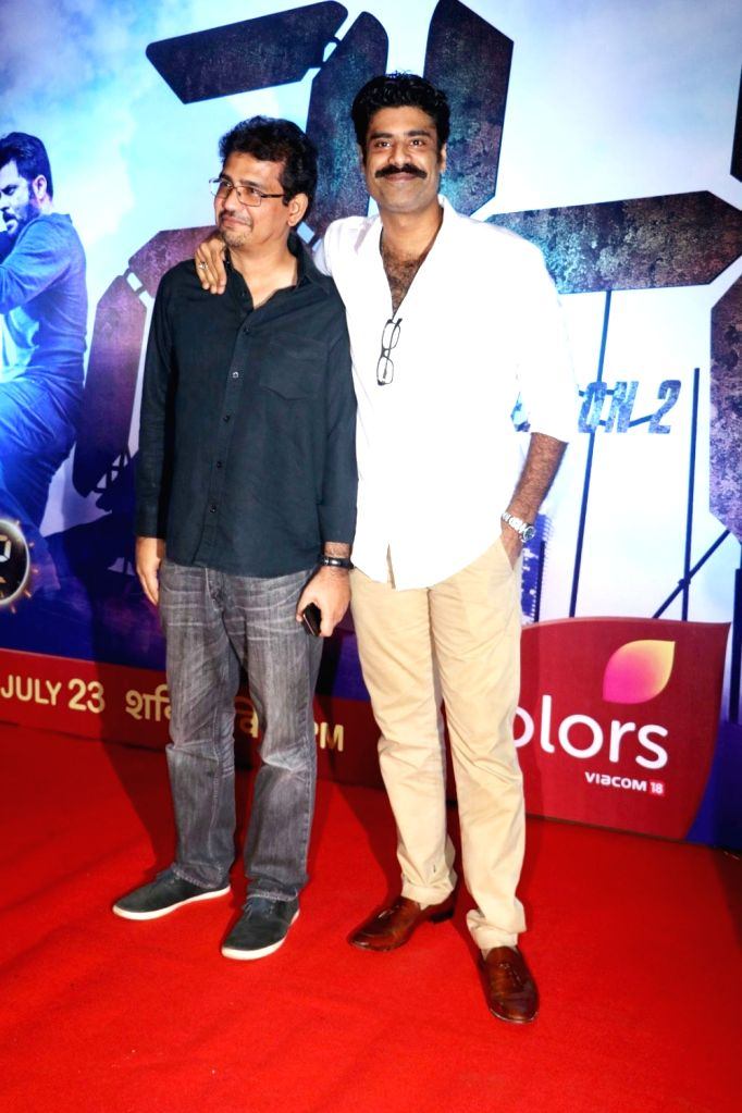 Filmmaker Rensil D Silva and actor Sikander Kher (R) during the screening of second season of television series 24, in Mumbai, on July 22, 2016. - Rensil D Silva and Sikander Kher