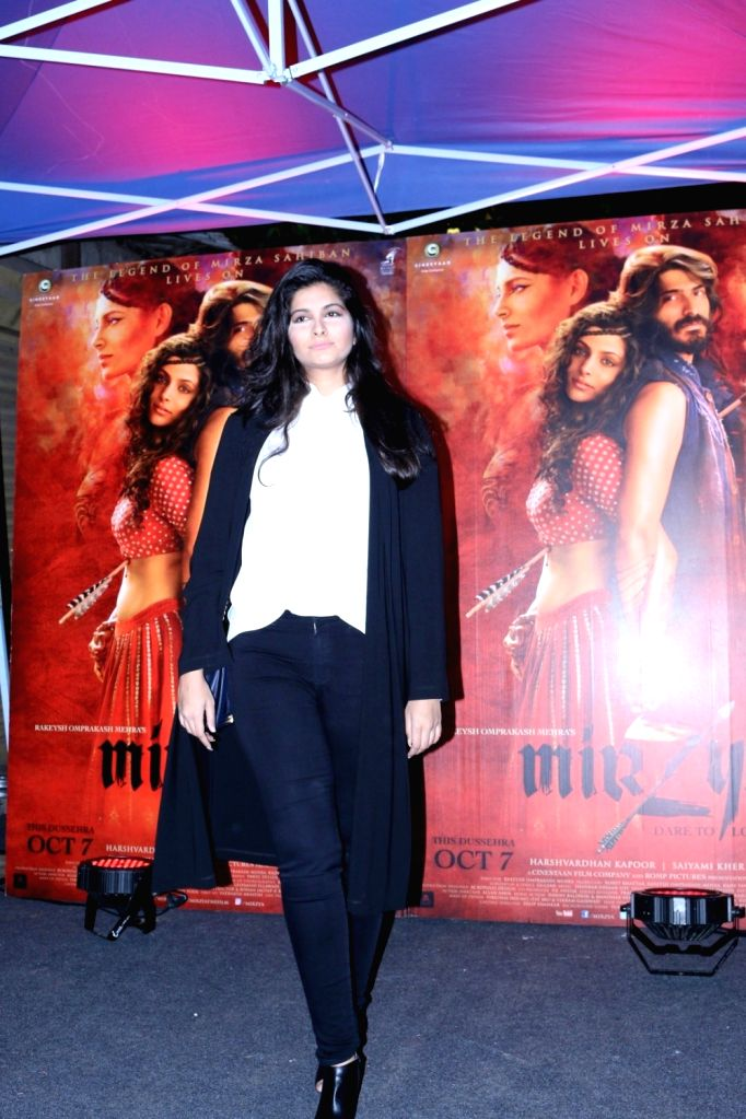 Filmmaker Rhea Kapoor during the red carpet for get together of film Mirzya in Mumbai on Sept 26, 2016. - Rhea Kapoor
