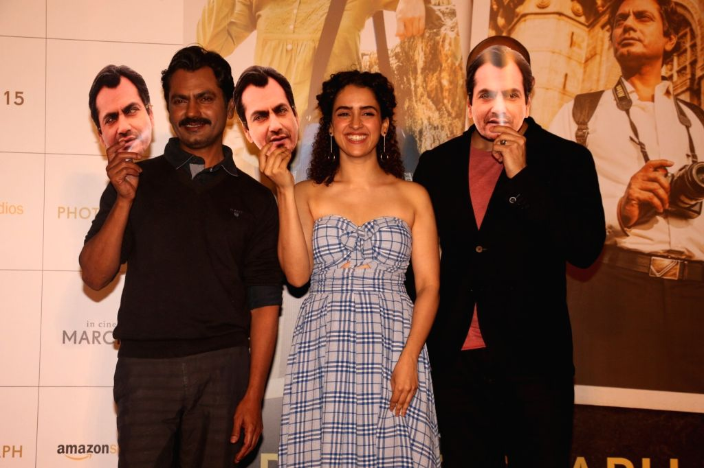 "Filmmaker Ritesh Batra with actors Nawazuddin Siddiqui and Sanya Malhotra during a programme organsied to launch ""Tumne Mujhe Dekha"" - a song from upcoming film ""Photograph"" in ... - Ritesh Batra, Nawazuddin Siddiqui and Sanya Malhotra"