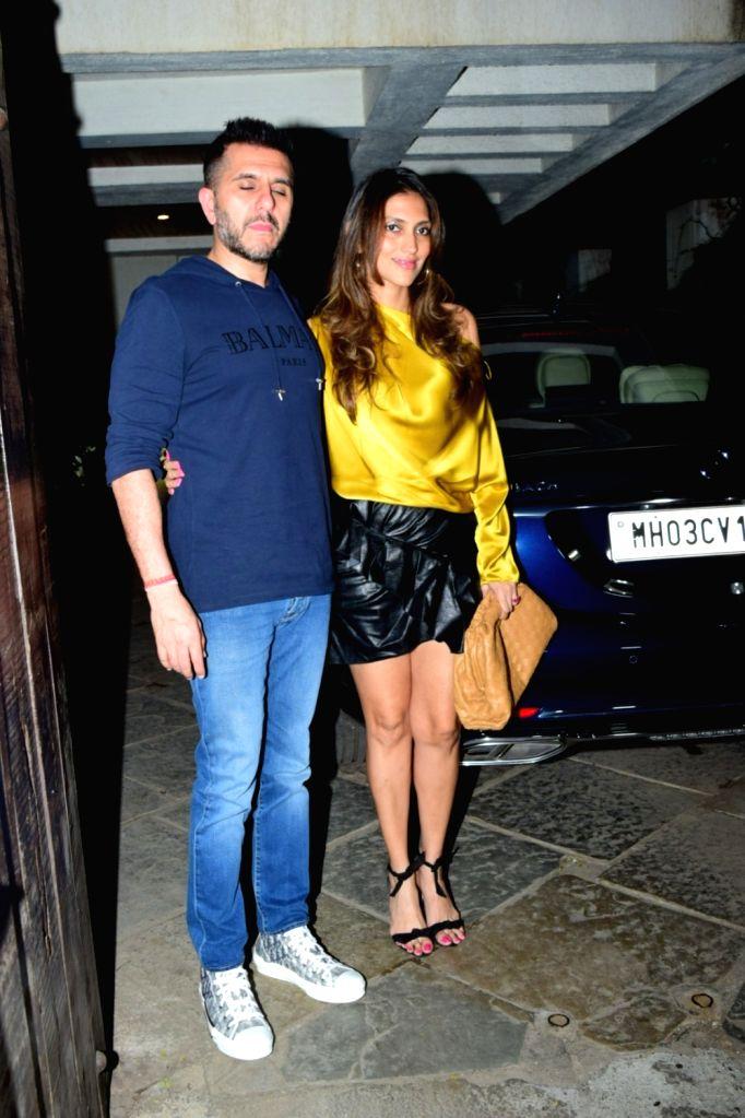Filmmaker Ritesh Sidhwani and his wife Dolly Sidhwani at filmmaker Goldie Behl's birthday bash in Mumbai on Jan 25, 2020. - Ritesh Sidhwani