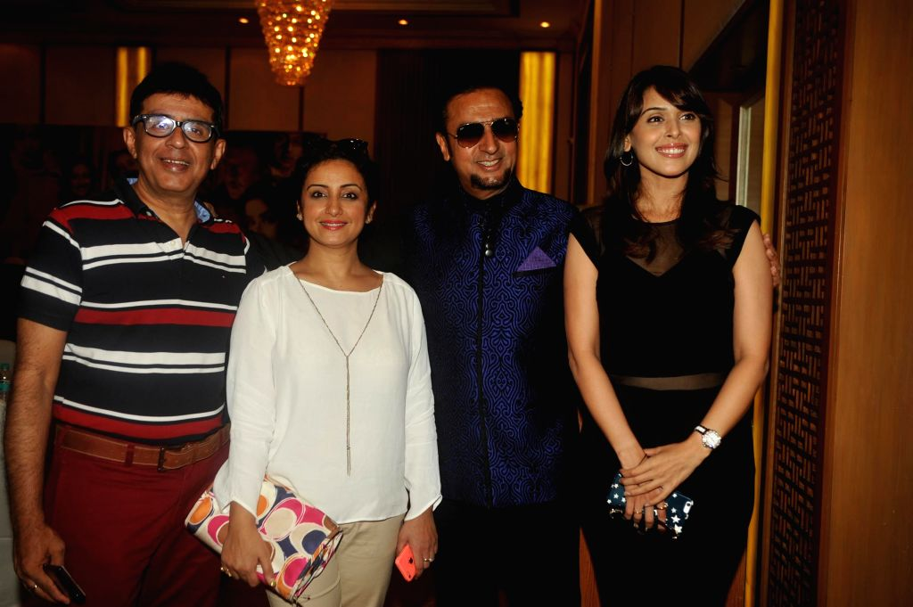 Filmmaker Rohit Kaushik, Gulshan Grover, Hrishitaa Bhatt and Divya Dutta during the music launch of film Chehere in Mumbai, on July 31, 2015. - Rohit Kaushik and Gulshan Grover