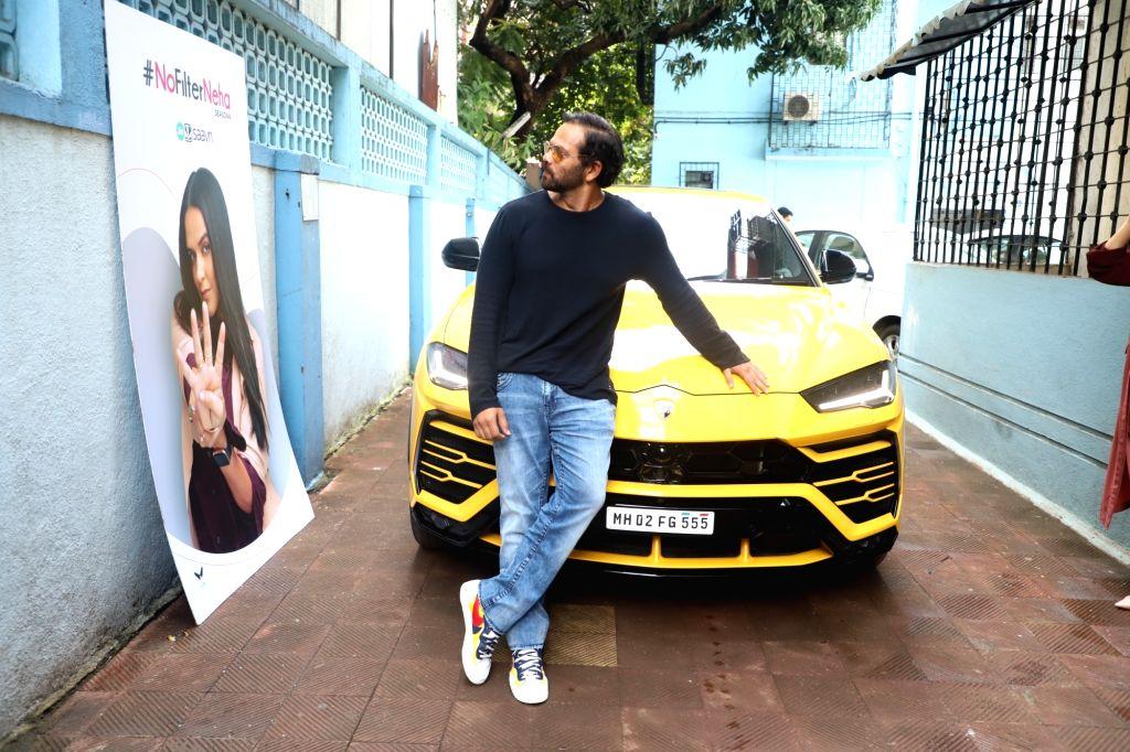 "Filmmaker Rohit Shetty on the sets of actress Neha Dhupia's chat show ""#NoFilterNeha"" in Mumbai on Nov 8, 2019. - Rohit Shetty"