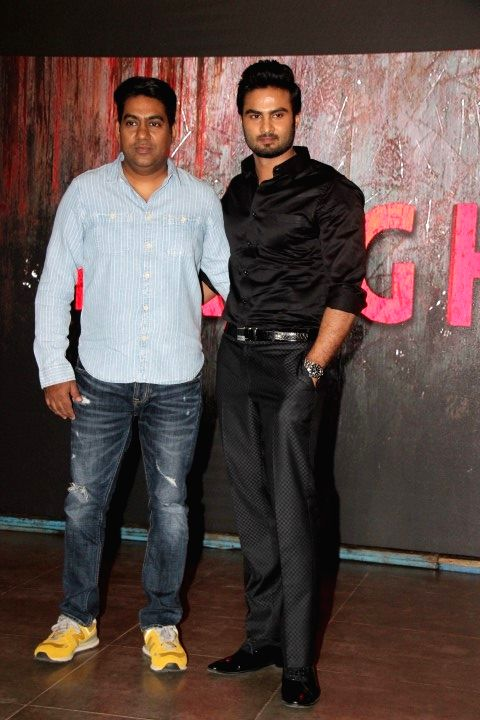 Filmmaker Sabbir Khan and debut actor Sudheer Babu during a media interaction, in Mumbai on April 19, 2016. - Sabbir Khan