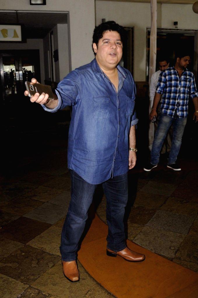 Filmmaker Sajid Khan during launch of Jeet Gian book, The Three Wise Monkeys, in Mumbai on Sept 19, 2016. - Sajid Khan
