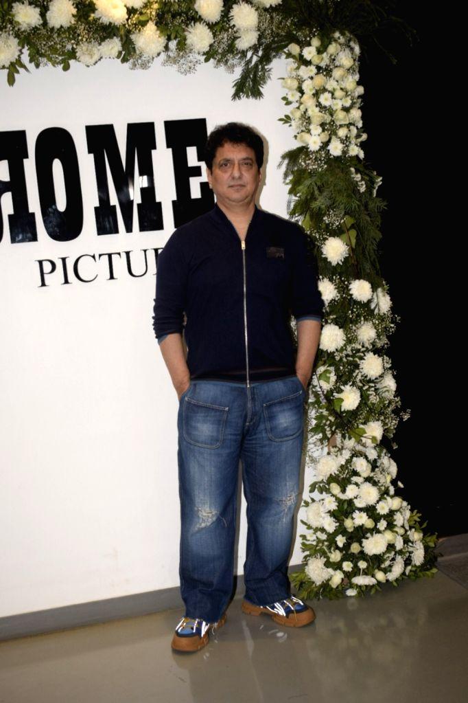 "Filmmaker Sajid Nadiadwala at Chrome Picture's15th anniversary and ""Badhaai Ho"" success party in Mumbai on Jan. 19, 2019. - Sajid Nadiadwala"
